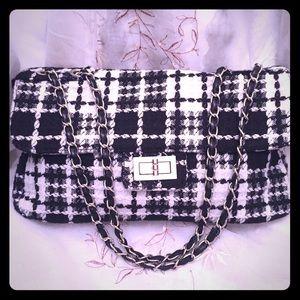 Tweed Black/White Shoulderbag